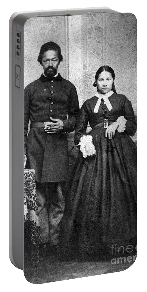 1865 Portable Battery Charger featuring the photograph Civil War: Black Troops by Granger