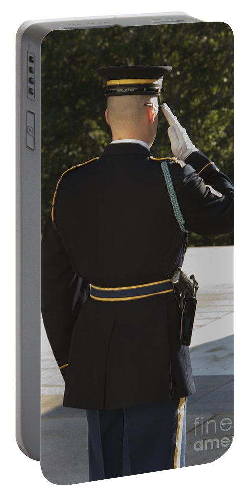 Vertical Portable Battery Charger featuring the photograph Honor Guard At The Tomb by Terry Moore