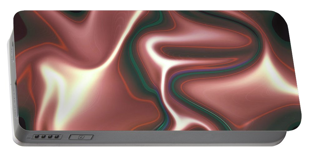 Art Portable Battery Charger featuring the digital art Abstract Pattern Art by David Pyatt