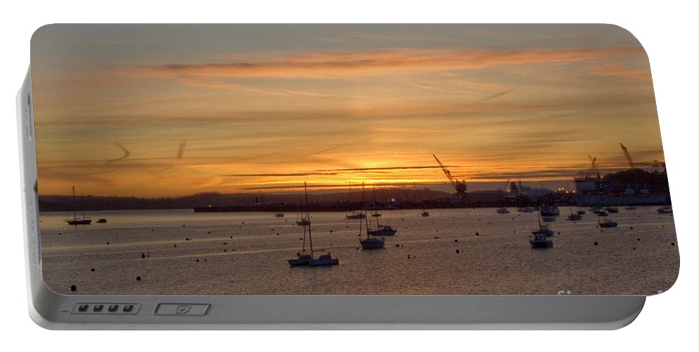 Falmouth Portable Battery Charger featuring the photograph Sunrise Falmouth Docks by Brian Roscorla