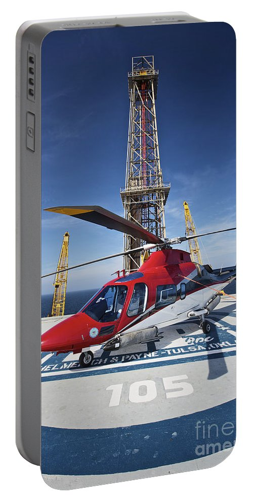 Vertical Portable Battery Charger featuring the photograph Agustawestland Aw109e Utility by Terry Moore