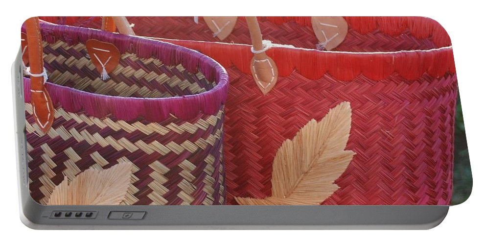 Baskets Portable Battery Charger featuring the photograph 3 Baskets by Rob Hans