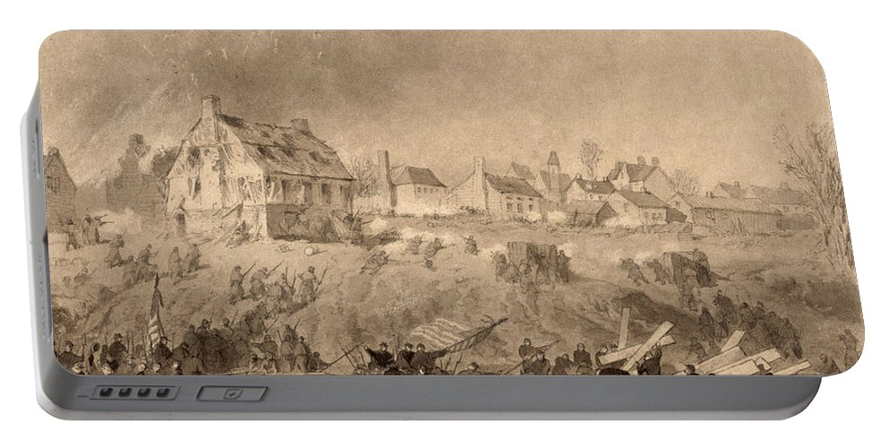 1862 Portable Battery Charger featuring the photograph Battle Of Fredericksburg by Granger