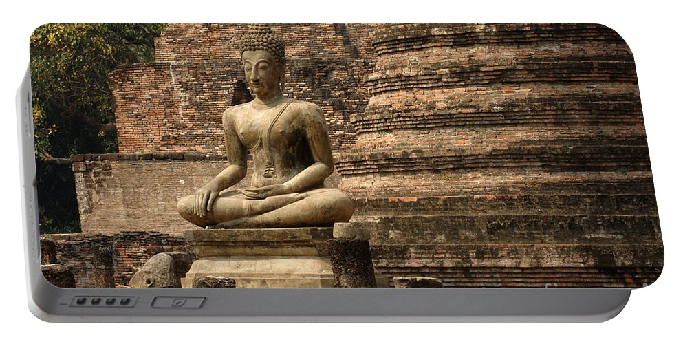 Sukhothai Portable Battery Charger featuring the photograph Buddha At Sukhothai by Bob Christopher