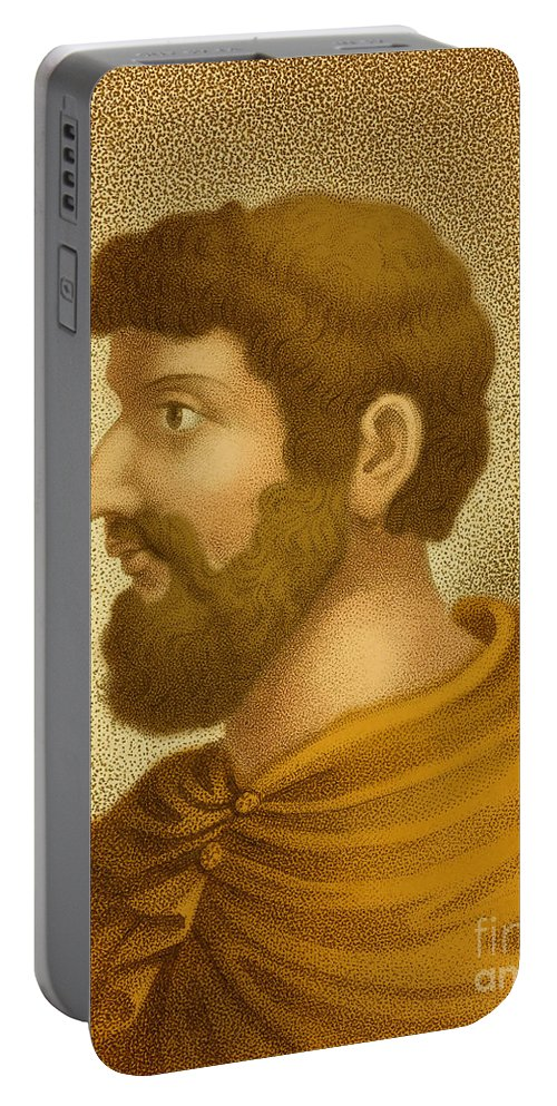 Callimachus Portable Battery Charger featuring the photograph Callimachus, Greek-libyan Poet by Photo Researchers
