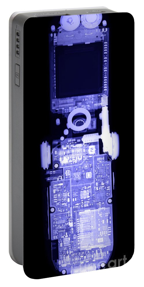 Xray Portable Battery Charger featuring the photograph Cell Phone by Ted Kinsman
