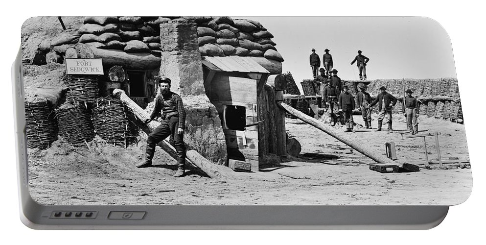 1865 Portable Battery Charger featuring the photograph Civil War: Petersburg by Granger
