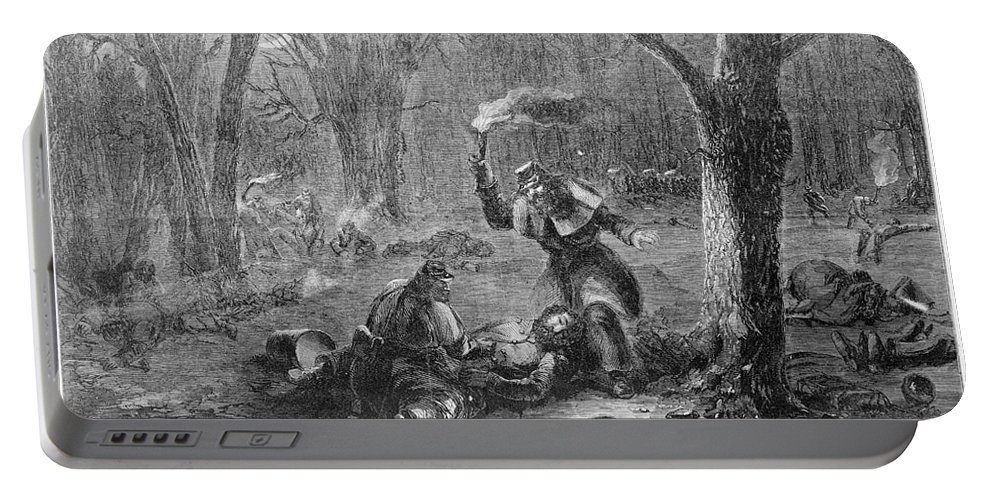 1862 Portable Battery Charger featuring the photograph Civil War: Wounded by Granger