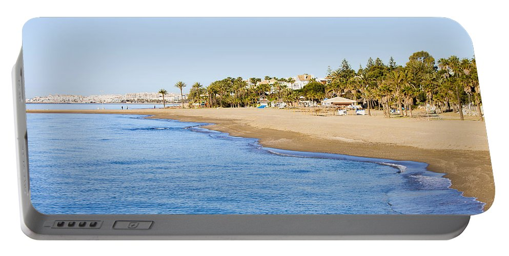 Beach Portable Battery Charger featuring the photograph Costa Del Sol In Spain by Artur Bogacki