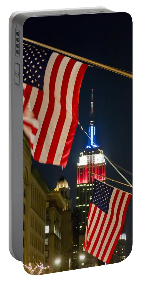 Empire State Building Portable Battery Charger featuring the photograph Empire State Building by Theodore Jones