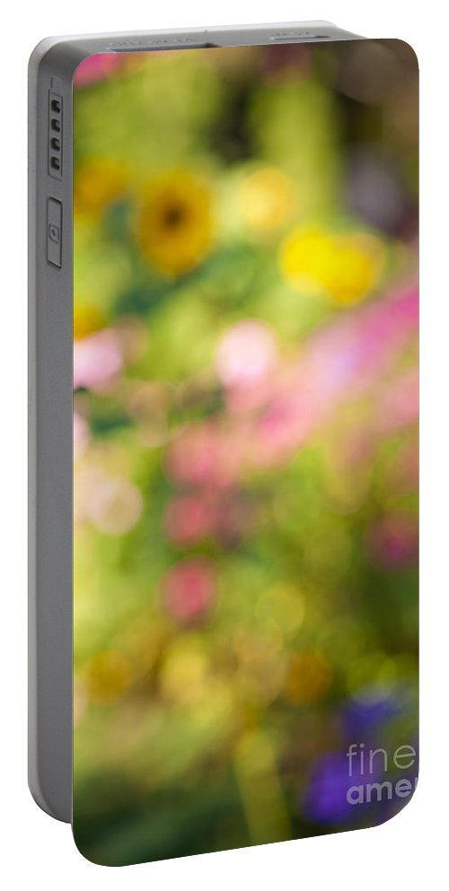 Flower Portable Battery Charger featuring the photograph Flower Garden In Sunshine by Elena Elisseeva