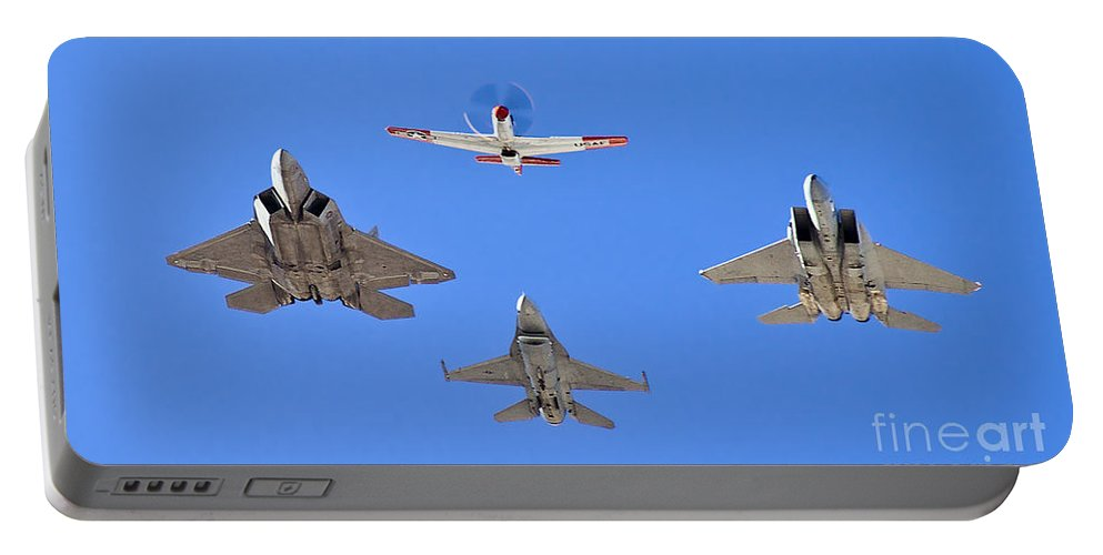 Usaf Portable Battery Charger featuring the photograph 3 Generations by Tim Mulina