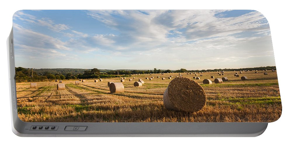Clouds Portable Battery Charger featuring the photograph Harvest Time by Dawn OConnor