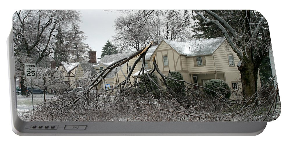 Ice Storm Portable Battery Charger featuring the photograph Ice Storm by Ted Kinsman