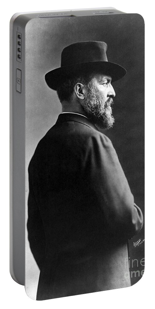 Government Portable Battery Charger featuring the photograph James A. Garfield, 20th American by Photo Researchers