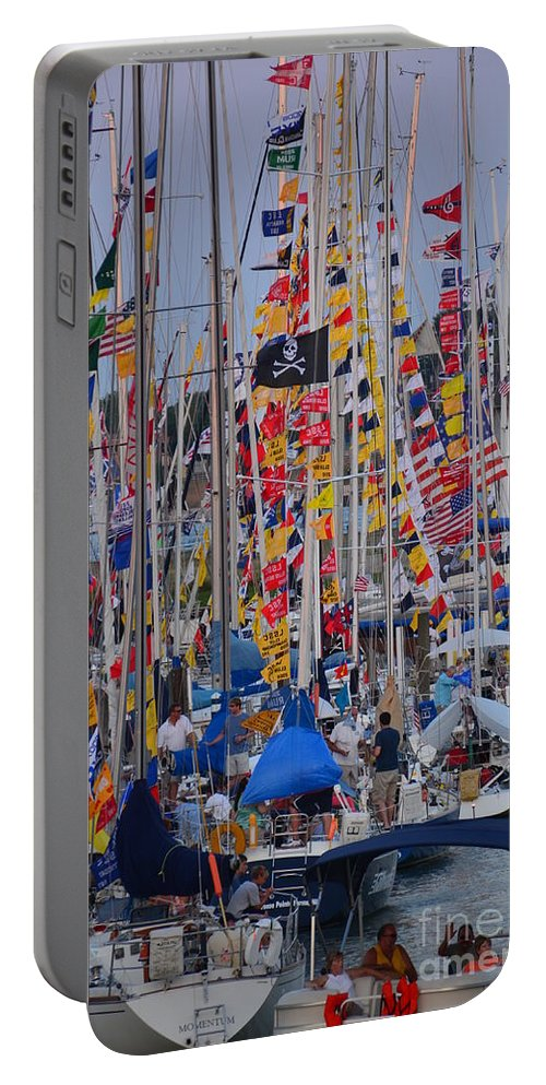 Sails Portable Battery Charger featuring the photograph Mackinac Race by Randy J Heath