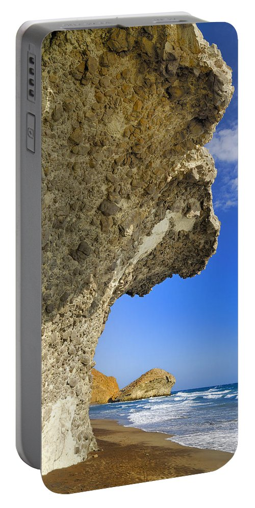 Sunset Portable Battery Charger featuring the photograph Monsul by Guido Montanes Castillo