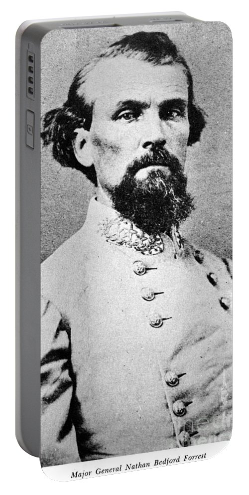 1864 Portable Battery Charger featuring the photograph Nathan Bedford Forrest by Granger