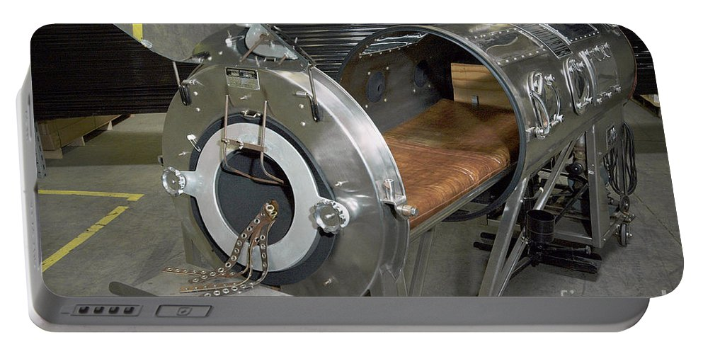 Medical Portable Battery Charger featuring the photograph Negative Pressure Ventilator, Iron Lung by Science Source