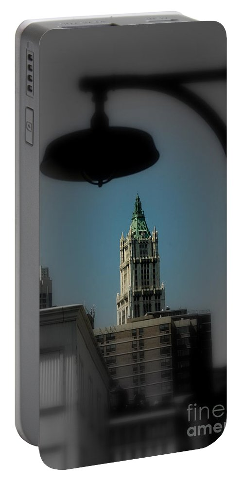 Digital Designs Portable Battery Charger featuring the photograph Woolworth Building by Mark Gilman