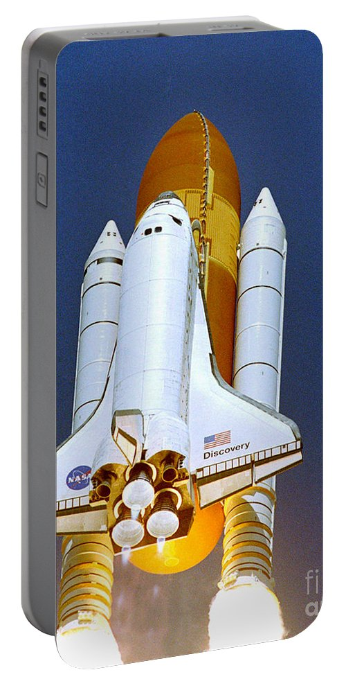 Astronomy Portable Battery Charger featuring the photograph Space Shuttle Discovery by Nasa