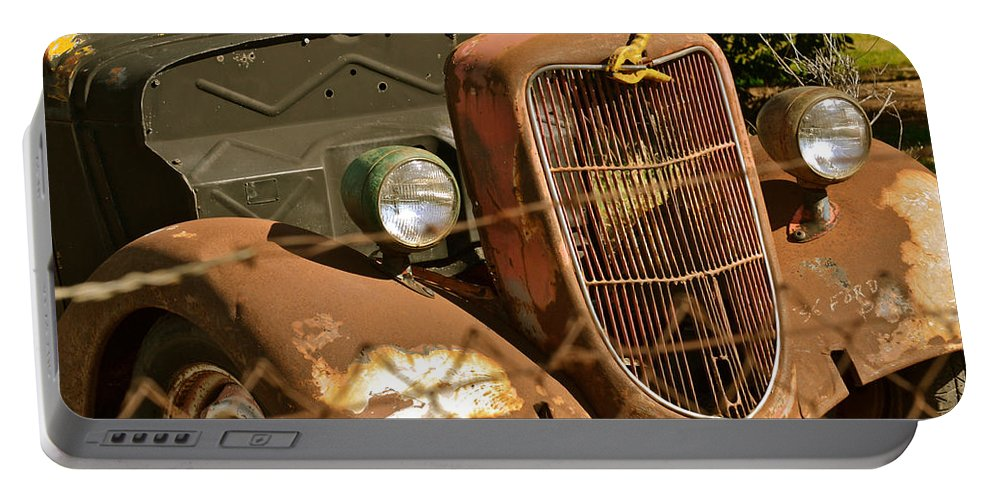 1936 Ford Portable Battery Charger featuring the photograph '36 Ford IIi by Bill Owen