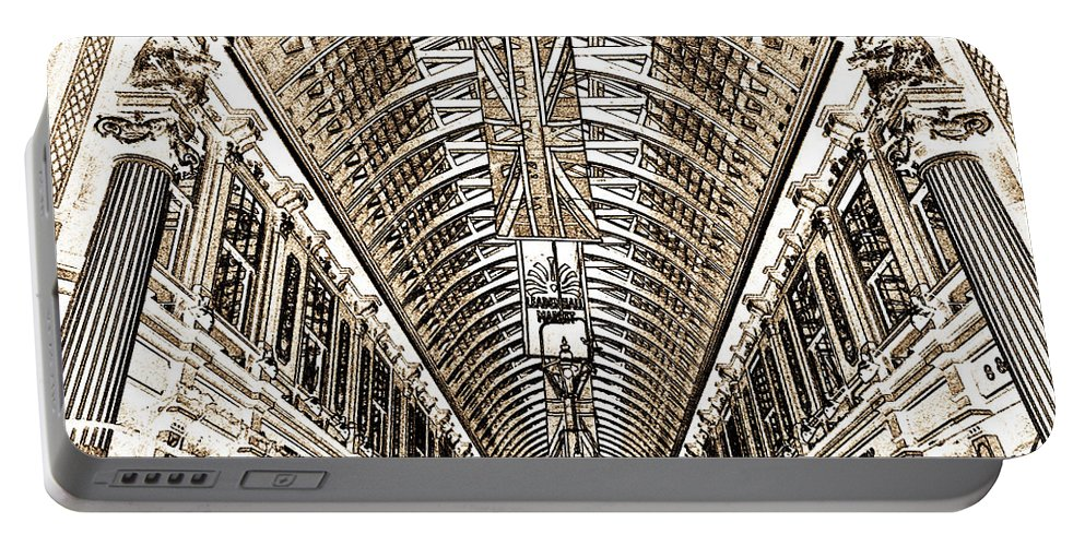 Leadenhall Market Portable Battery Charger featuring the digital art Leadenhall Market London by David Pyatt