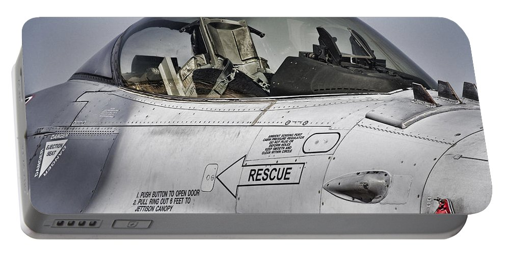 Fa 18-superhornet Portable Battery Charger featuring the photograph 360 Degree Views by Douglas Barnard