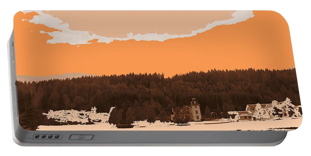 Augusta Stylianou Portable Battery Charger featuring the digital art Norway Landscape by Augusta Stylianou