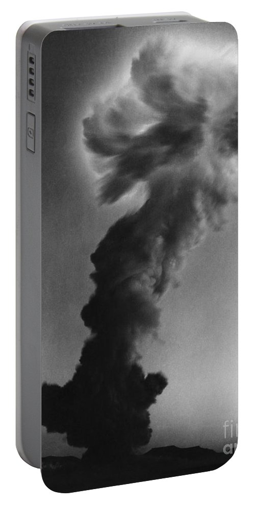 Thermonuclear Detonation Portable Battery Charger featuring the photograph Atomic Bomb Explosion by Omikron