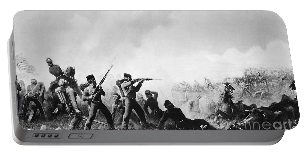 1847 Portable Battery Charger featuring the painting Battle Of Buena Vista by Granger