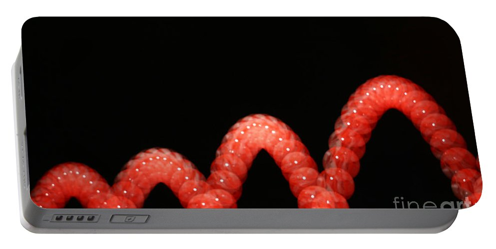 Bouncing Ball Portable Battery Charger featuring the photograph Bouncing Ball by Ted Kinsman