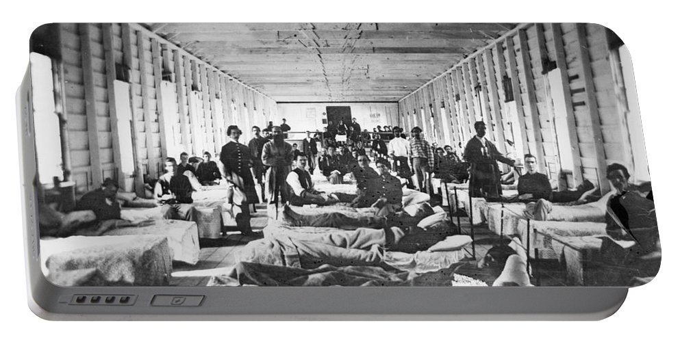 1864 Portable Battery Charger featuring the photograph Civil War: Hospital by Granger
