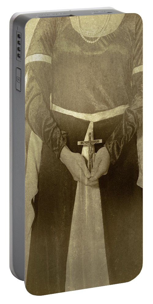 Female Portable Battery Charger featuring the photograph Crucifix by Joana Kruse