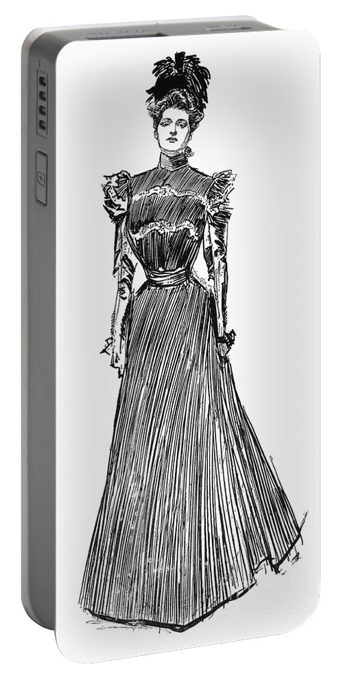 1899 Portable Battery Charger featuring the photograph Gibson Girl, 1899 by Granger