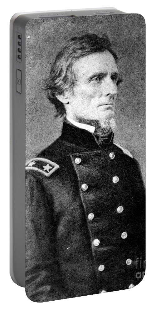 1861 Portable Battery Charger featuring the photograph Jefferson Davis (1808-1889) by Granger
