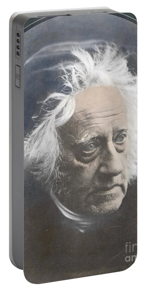 Science Portable Battery Charger featuring the photograph John Herschel, English Polymath by Science Source