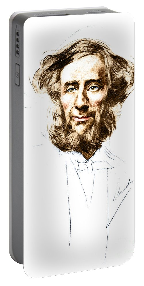 Science Portable Battery Charger featuring the photograph John Tyndall, Irish Physicist by Science Source