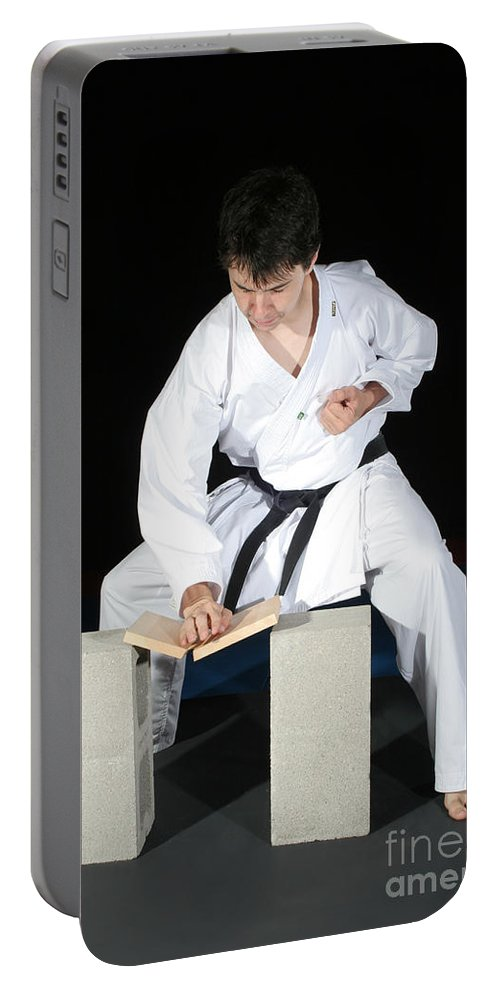 Karate Portable Battery Charger featuring the photograph Karate by Ted Kinsman