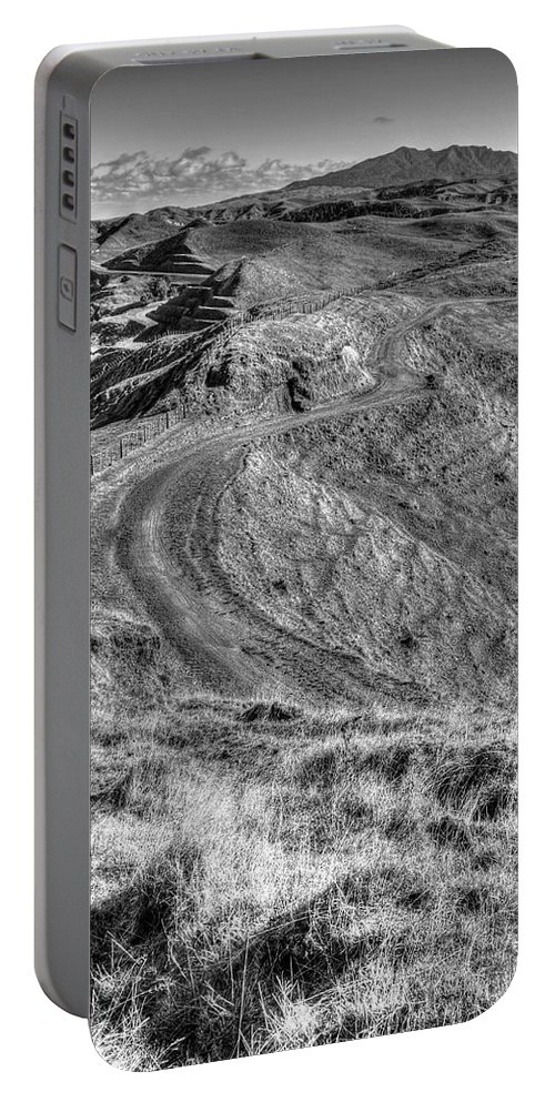 Black And White Portable Battery Charger featuring the photograph Landscape by Les Cunliffe