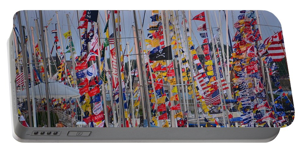 Mackinac Portable Battery Charger featuring the photograph Mackinac Race by Randy J Heath