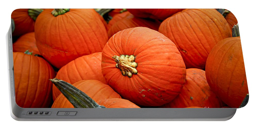 Fall Portable Battery Charger featuring the photograph Pumpkins by Elena Elisseeva