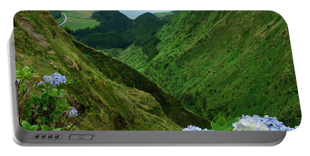 Azores Portable Battery Charger featuring the photograph Sete Cidades - Azores by Gaspar Avila