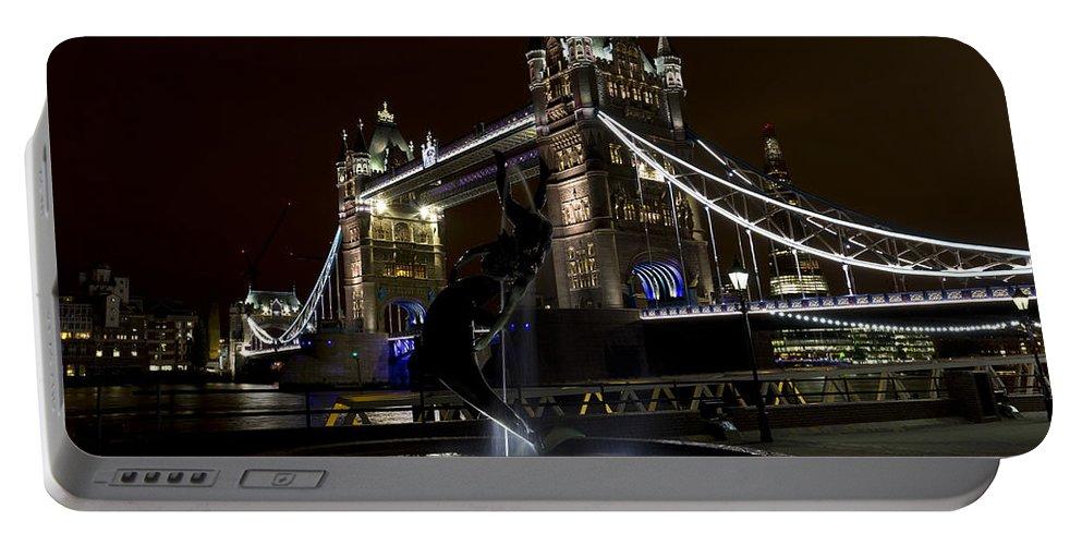 Tower Bridge Portable Battery Charger featuring the photograph Tower Bridge by David Pyatt