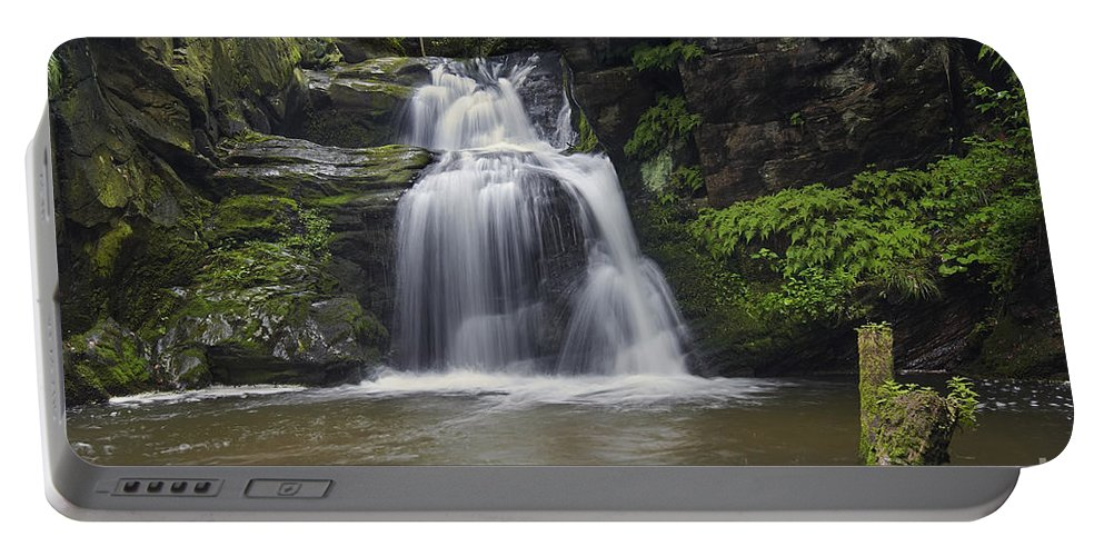 Cascade Portable Battery Charger featuring the photograph Waterfall by Michal Boubin