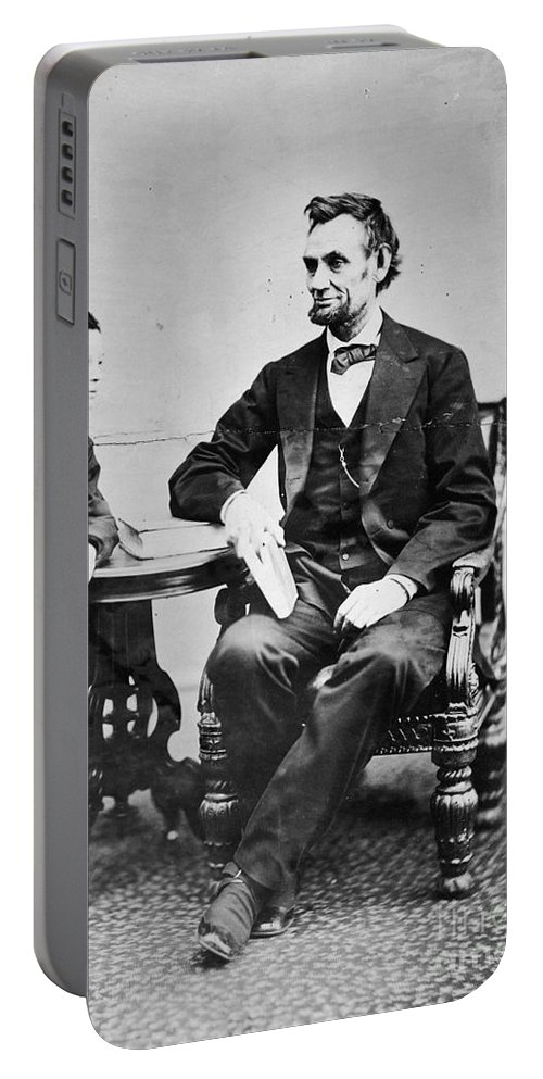 1865 Portable Battery Charger featuring the photograph Abraham Lincoln by Granger