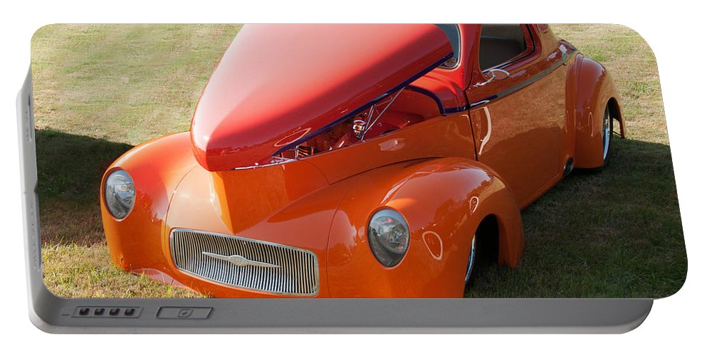 1941 Willys Portable Battery Charger featuring the photograph 41 Willys Coupe by Guy Whiteley