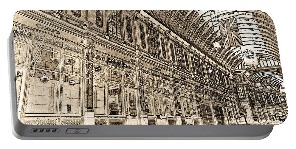 Leadenhall Market Portable Battery Charger featuring the digital art Leadenhall Market London by David Pyatt
