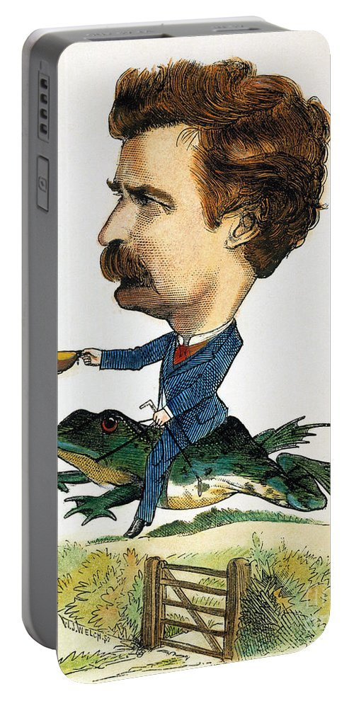 1872 Portable Battery Charger featuring the photograph Samuel Langhorne Clemens by Granger