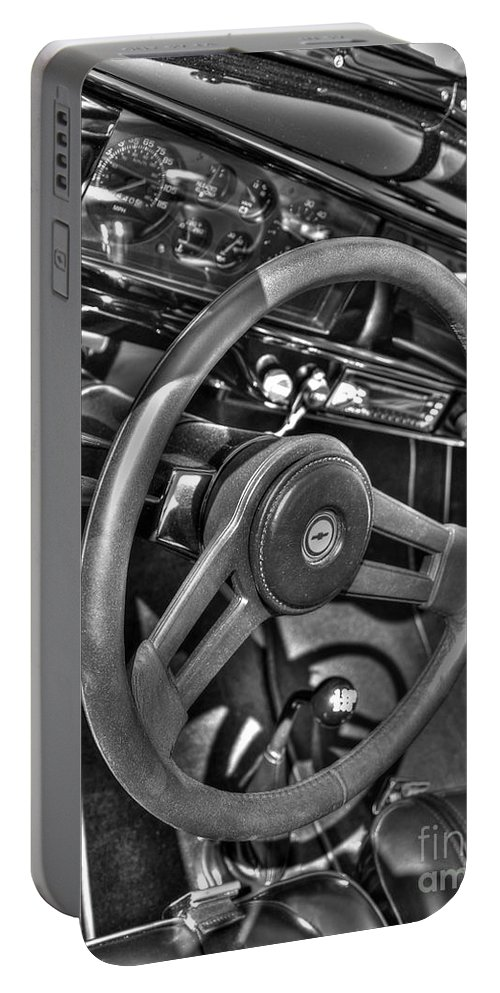 Chevy Portable Battery Charger featuring the photograph 48 Chevy Convertible Interior by Anthony Wilkening